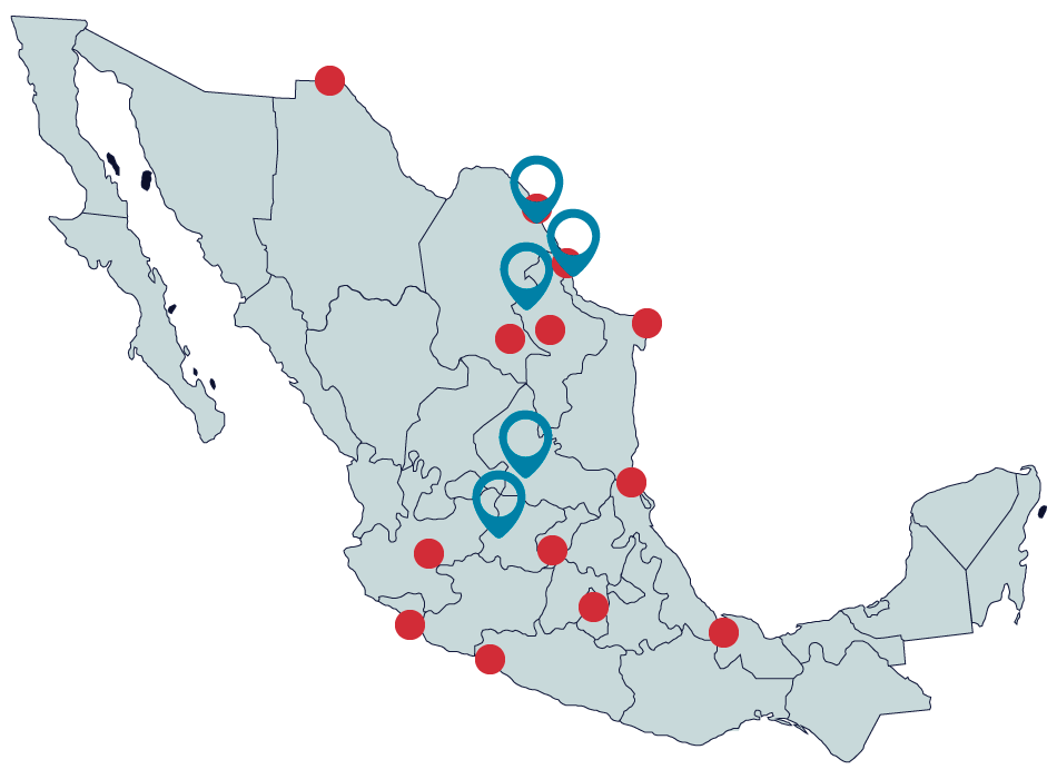 intermodales mapa